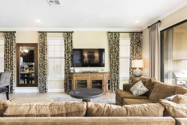 Catch your favorite TV series on the 60-Inch TV