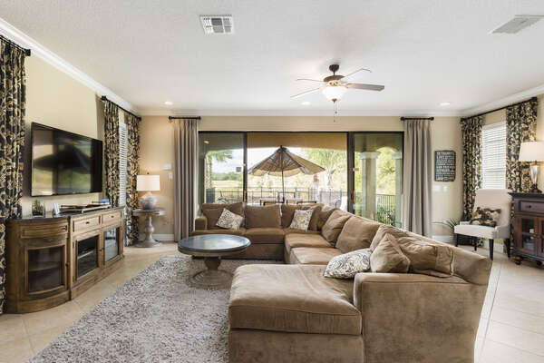 The living area gives you the warmth of home with the luxurious furniture