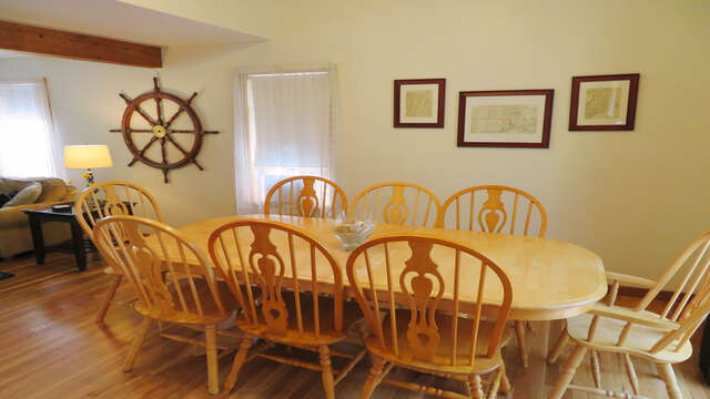 View of dining from kitchen area-180 Hardings Beach Road Chatham Cape Cod - New England Vacation Rentals