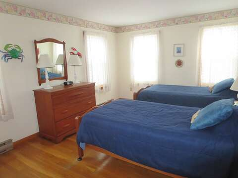 First floor bedroom - 2 twins - another view - 180 Hardings Beach Road Chatham Cape Cod - New England Vacation Rentals