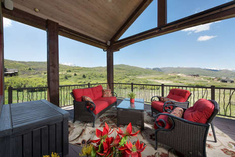 Upper Deck with Mountain and Lake views