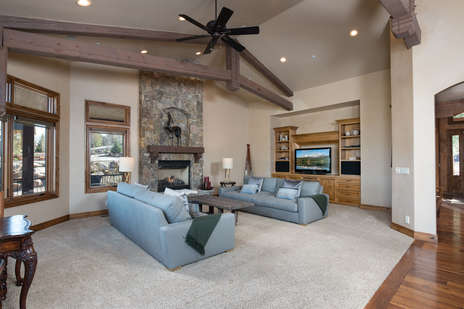Main Level Living Room with Gas Fire Place