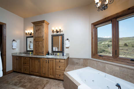 Attached master bathroom for 1st master bedroom Large Shower and Jacuzzi Tub