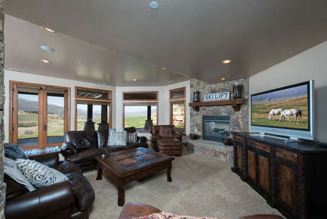 Downstairs Family Room with Pool table