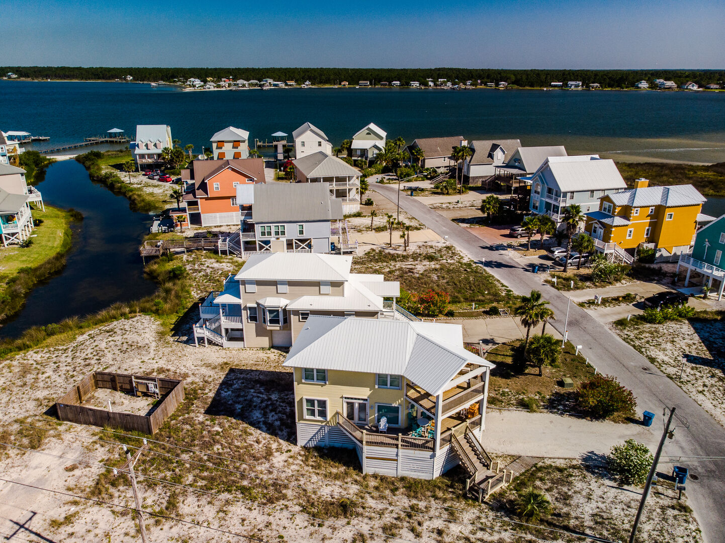 Aerial Picture of our Gulf Shores Vacation Rental.