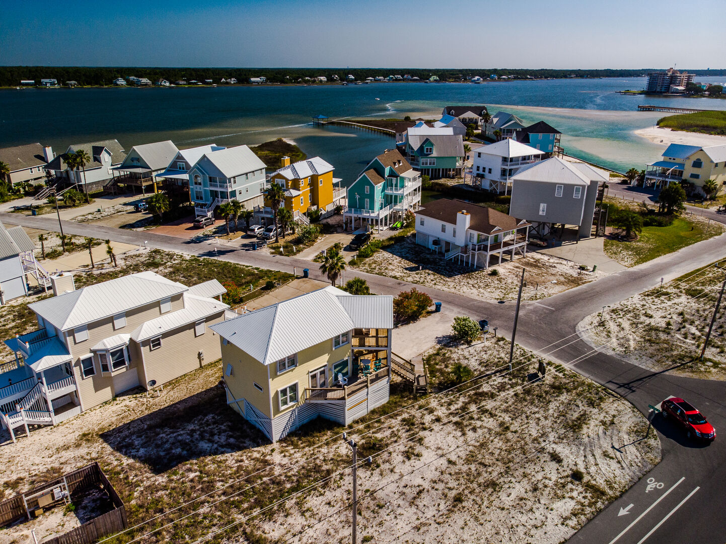 Aerial View of Sailor's Cove, the Neighborhood, and the Lagoon.