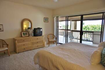 Master Bedroom with Cal King Bed and TV