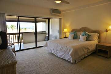 Master Bedroom with Cal King Bed and Ocean Views