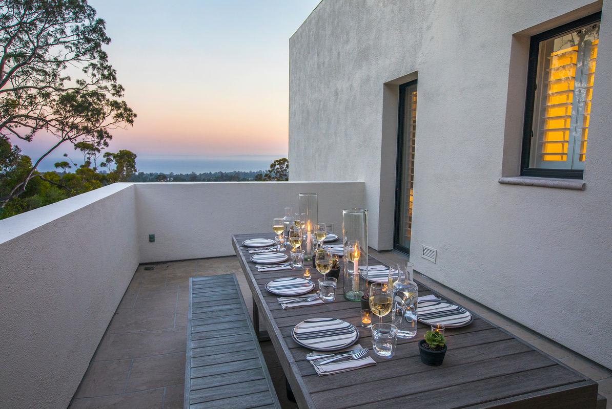 Dine al fresco with epic views