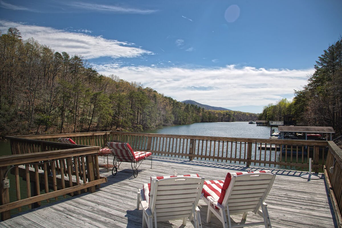 Large Deck Includes Four Lounge Chairs.