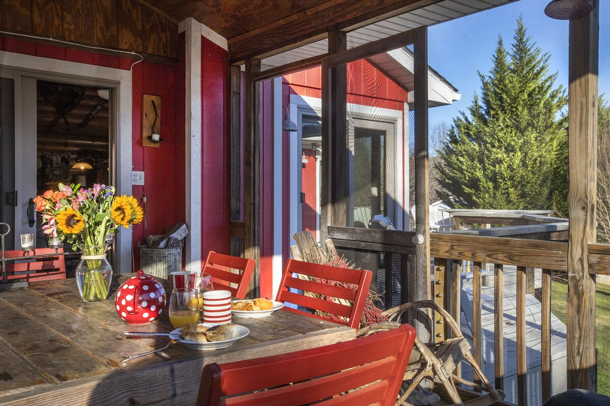 breakfast overlooking the lake . in the screened porch.. or never mind,  you control you mornings and experiences ..sorry we let you experience our guest fun adventure for 6