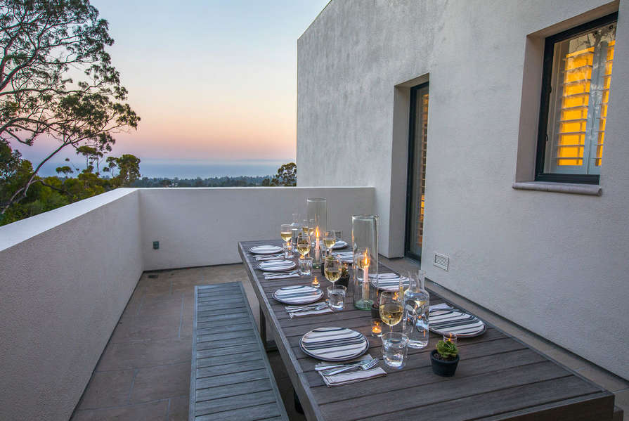 Dine al fresco with epic views