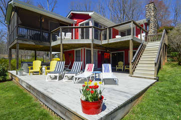 Beautiful Exterior of Smith Mountain Lake Cabin Rental.