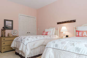 3rd bedroom with two twin beds.