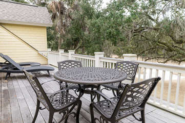 Deck off 2nd floor bedrooms is perfect for reading a book and enjoying the sunshine.