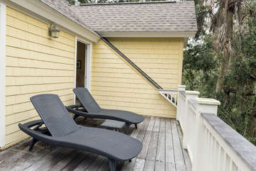 Catch some afternoon sun while you nap on upstairs porch/deck.