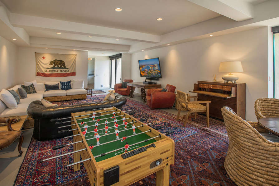 Downstairs Family Room w/foosball table