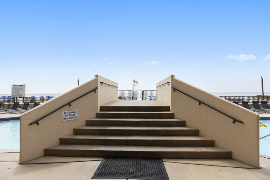 Stairs over the Pool leading to the Boardwalk