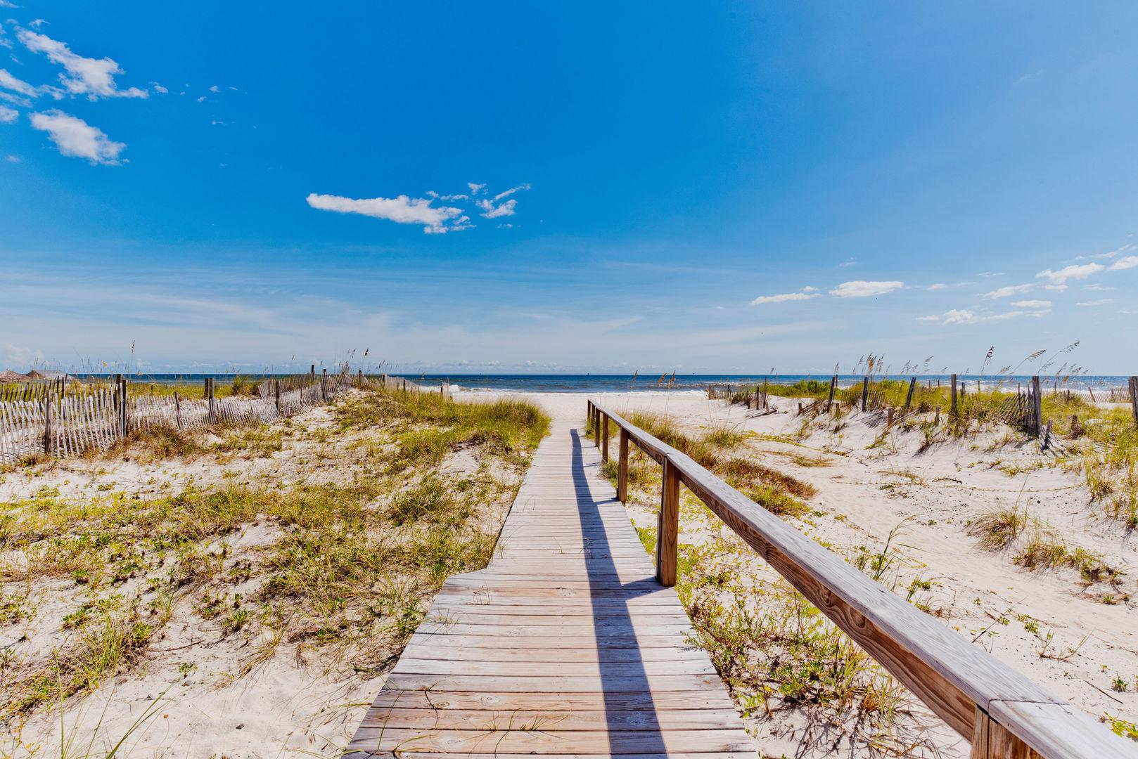 Easy beach access!