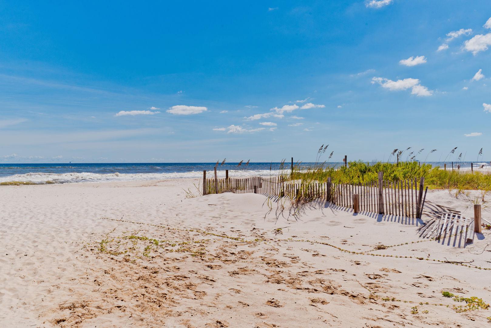 Enjoy the beaches of Fort Morgan!