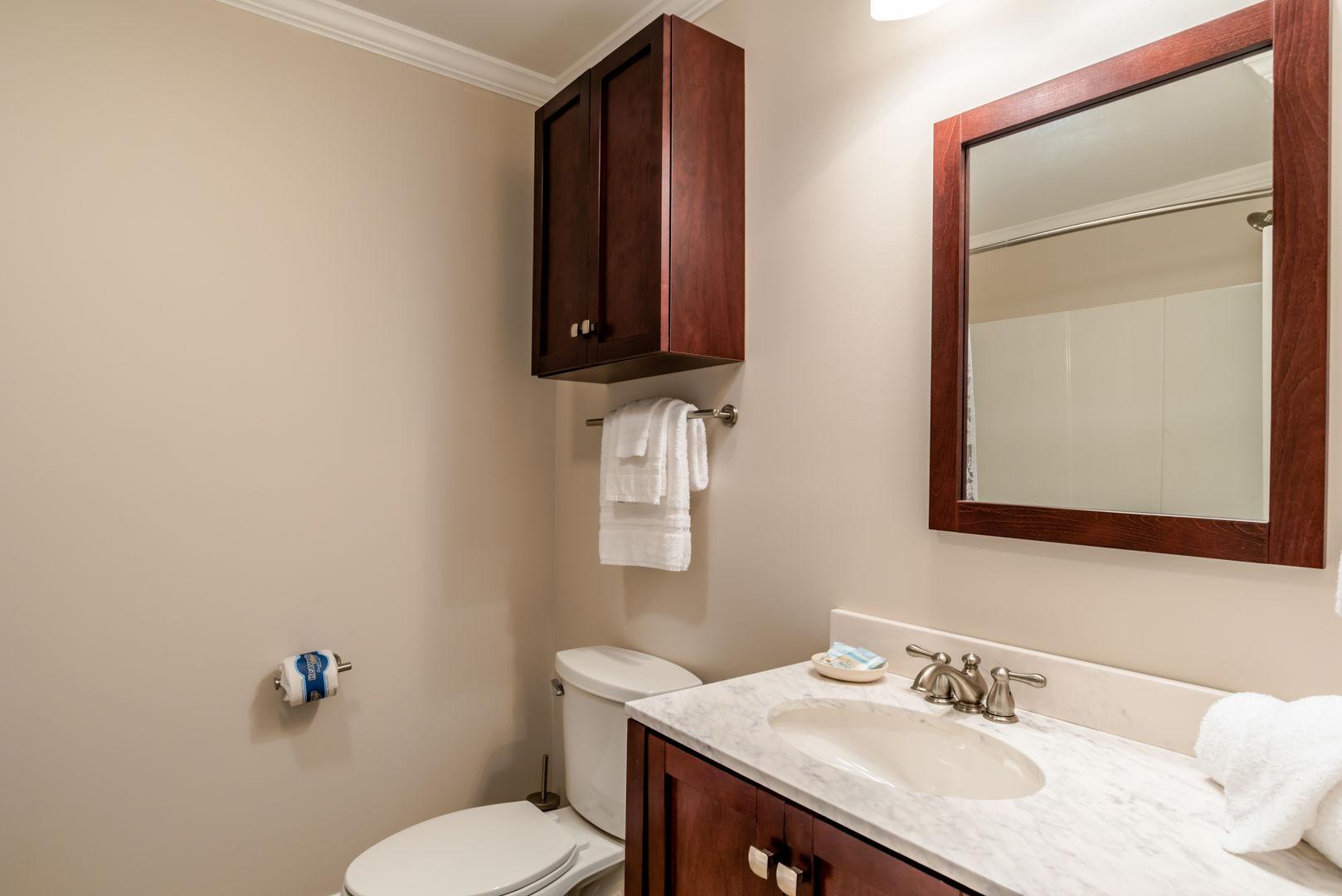 Bedroom 2 has a private bathroom