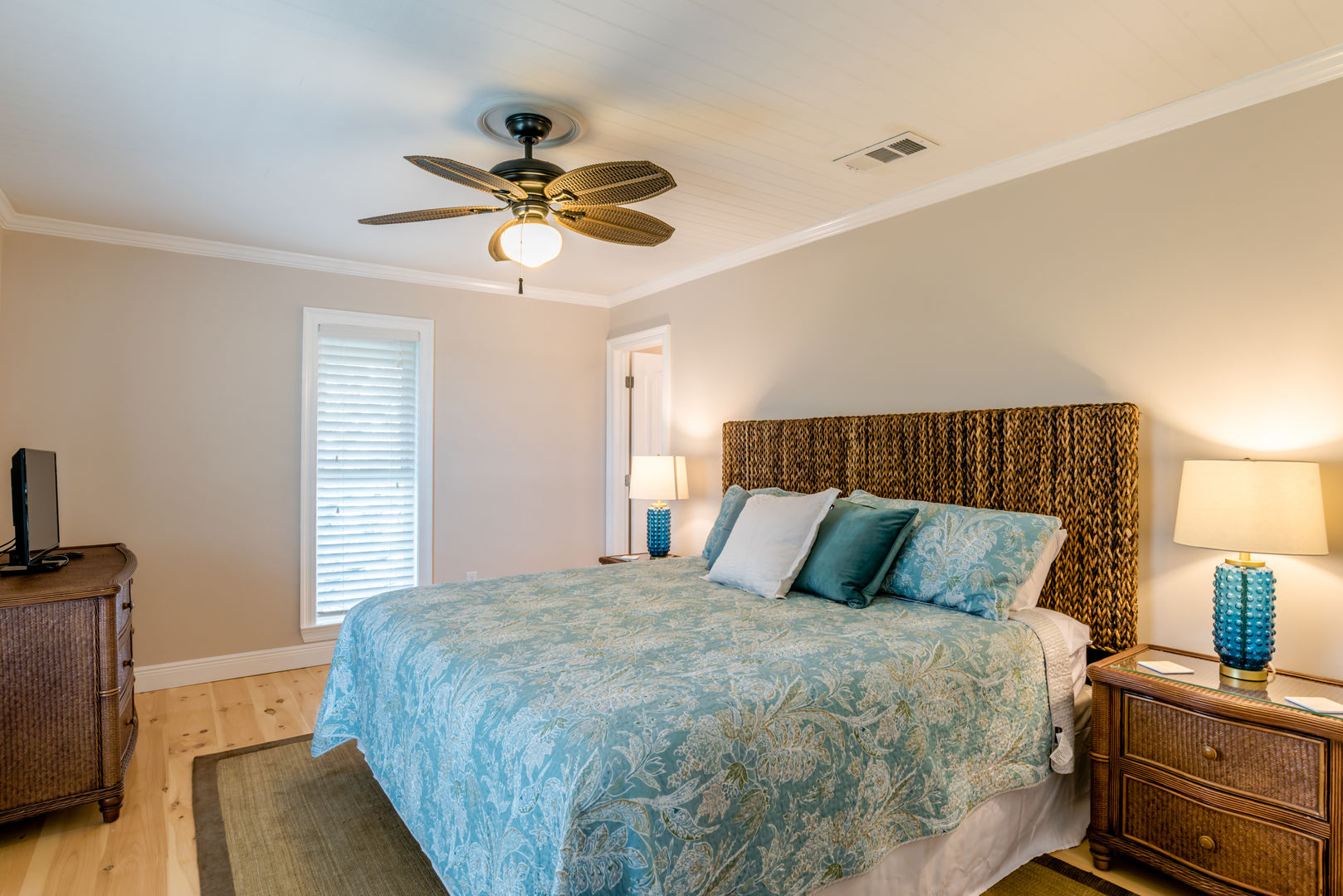 Master suite features a king bed