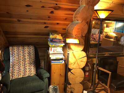 Cozy nook for reading upstairs