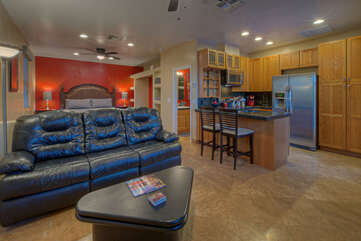 Casita is a gorgeous stand alone domicile with a great room, Smart TV and completely stocked kitchen.