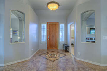 Attractive foyer welcomes you to large and spacious home with many pleasing upgrades and exciting amenities.