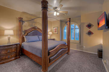 No reason to argue over sleeping arrangements when 5 of the 6 bedrooms have king beds similar to the one shown here in the second bedroom.