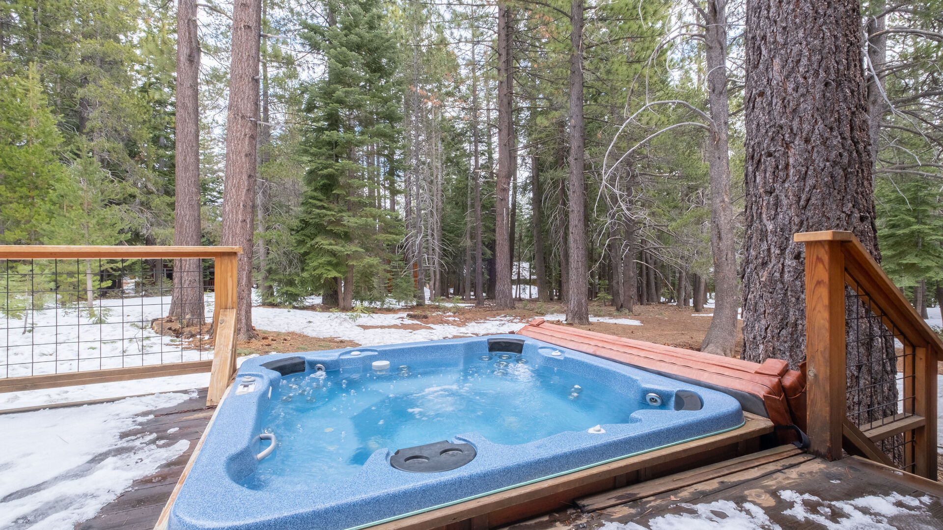 Hot Tub with View of Forest