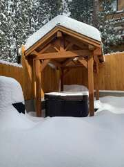 Jacuzzi in back yard