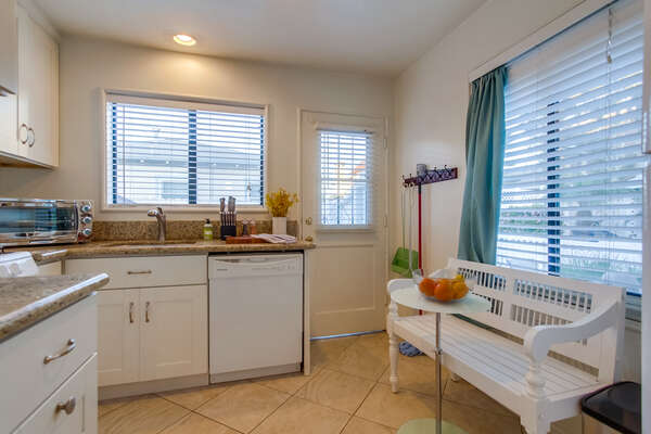 Fully Stocked Kitchen in our Mission Beach Rental in San Diego