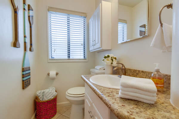 Second View of the Bathroom with Hand Towels