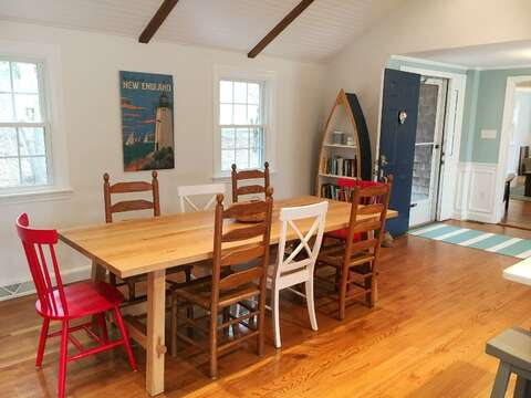 Dining table seats 8 comfortably - 44 Cranberry Way Chatham Cape Cod - New England Vacation Rentals
