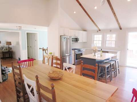 Open living concept dining and kitchen - 44 Cranberry Way Chatham Cape Cod - New England Vacation Rentals