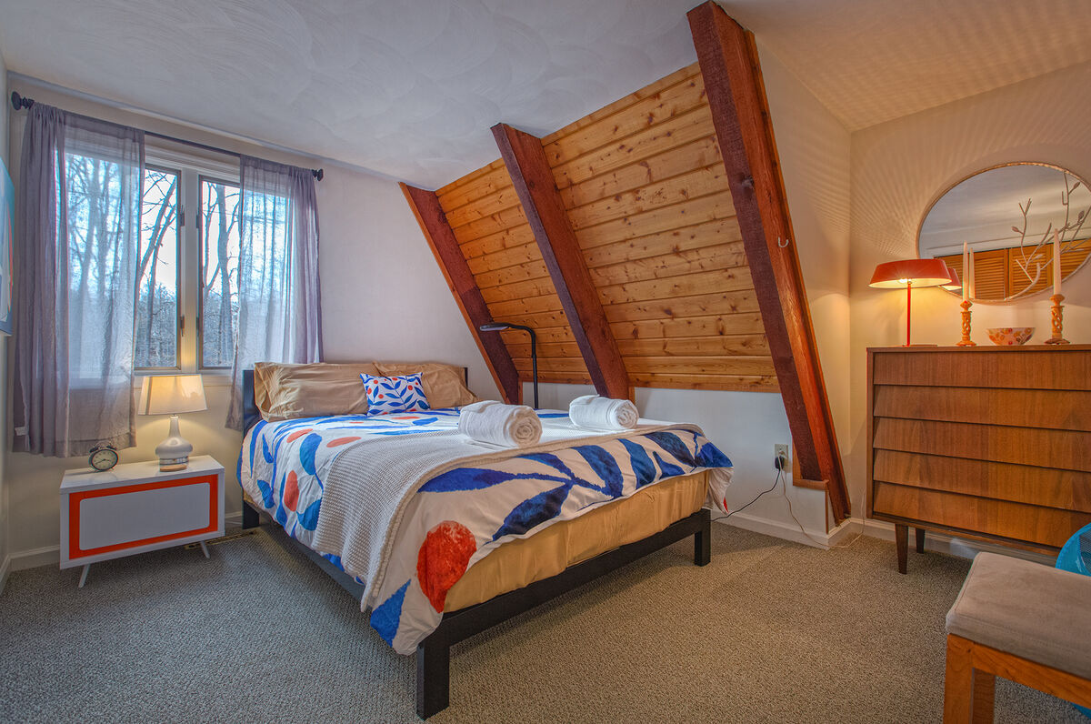 Bedroom with dresser and nightstand