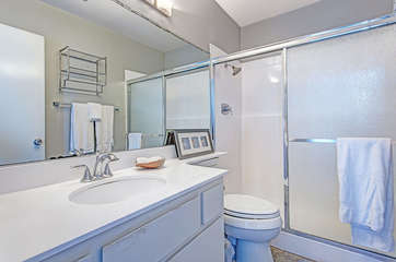 Master Bathroom with shower.