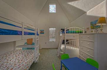Children's bedroom with twin bunk beds