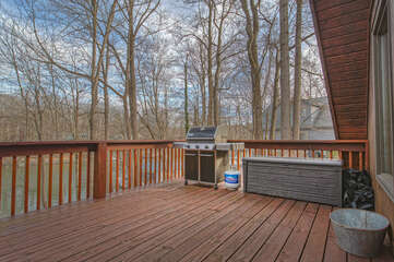 Grill on the deck of this smith mountain lake waterfront home
