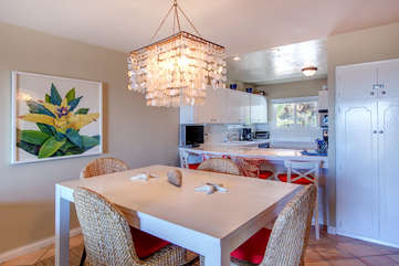 Dining table and breakfast bar