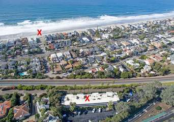 X marks the spot. The X on the east is the condo and the X on the west is the beach just 3 blocks away!