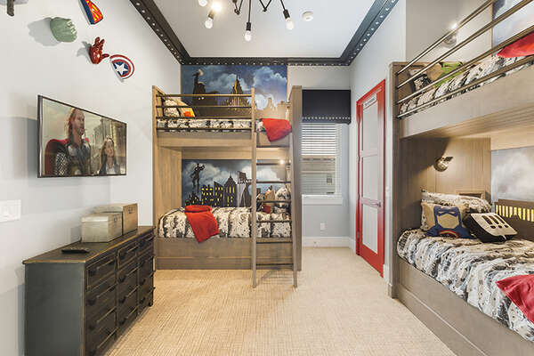 The kids will have some fun in their own bedroom.