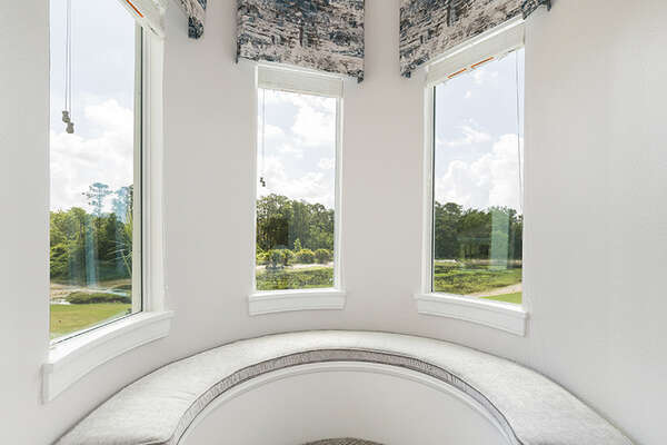 Relax in this reading nook with breathtaking views.