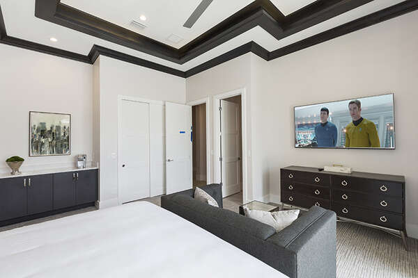 This bedroom features a SMART TV.