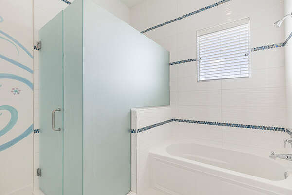 They will have walk-in shower and a combination of shower/tub.