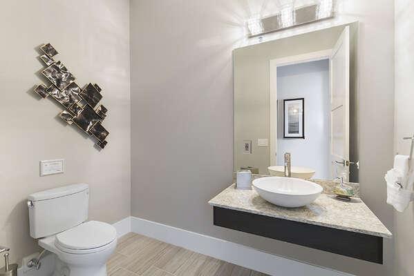 A half bathroom located on the ground floor.