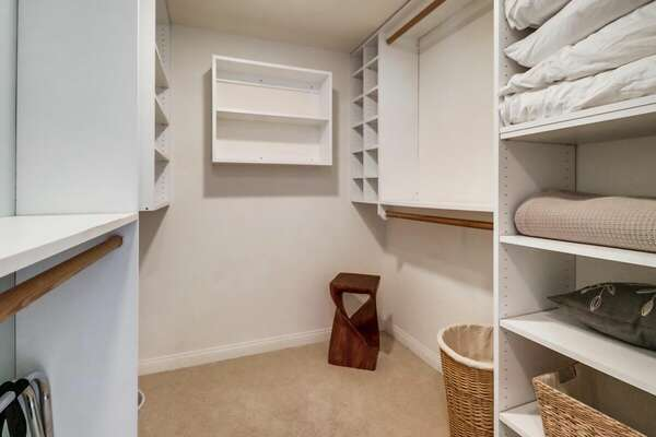 Large Master Bedroom Walk-in Closet for Your Vacation Clothes