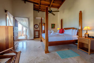 Indigo Belize 1C Master Bedroom Beach Front View