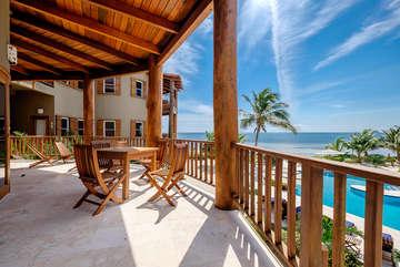 Indigo Belize 4B Beach Front View from Deck